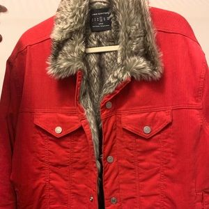 Urban outfitters winter jacket with fur